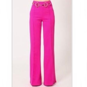 Leslie Gold Buckle Pants
